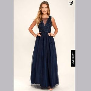 Lulu's Could Have Danced All Night Navy Tulle Gown